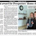 Prix de design Canadien pour le travail à la maison des prospecteurs