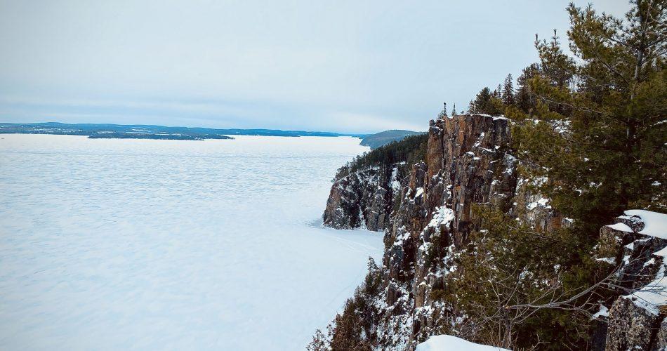 Vue du rocher du diable sur le lac Temiscamingue