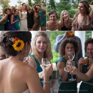 Enjoying time with your friends at a Presidents' Suites wedding in Haileybury - un peu de temps avec vos amies à un mariage aux Suites des Présidents à Temiskaming Shores