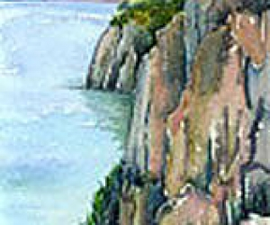 Devil's Rock, Giclée print by Laura Landers