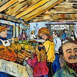New Liskeard Farmer's Market - A giclée print by Laura Landers