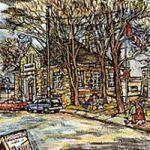New Liskeard Library, Giclée print by Laura Landers