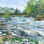 Pete's Dam - Giclée print by Laura Landers
