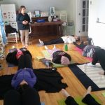 Yoga session at the Lumber Baron's House / Session de yoga à la Maison des barons forestiers