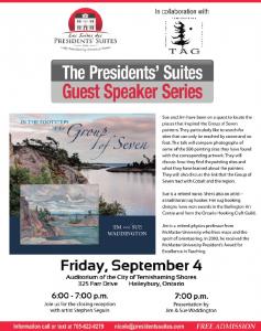 Jim and Sue Waddington - In the footsteps of the Group of Seven - Presidents' Suites Guest Speaker Series / Conférenciers des Suites des Présidents sur le sujet du Groupe des Sept.