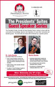 Dr. Julia & Martin Davids - Presidents' Suites Guest Speaker Series / Conférenciers des Suites des Présidents