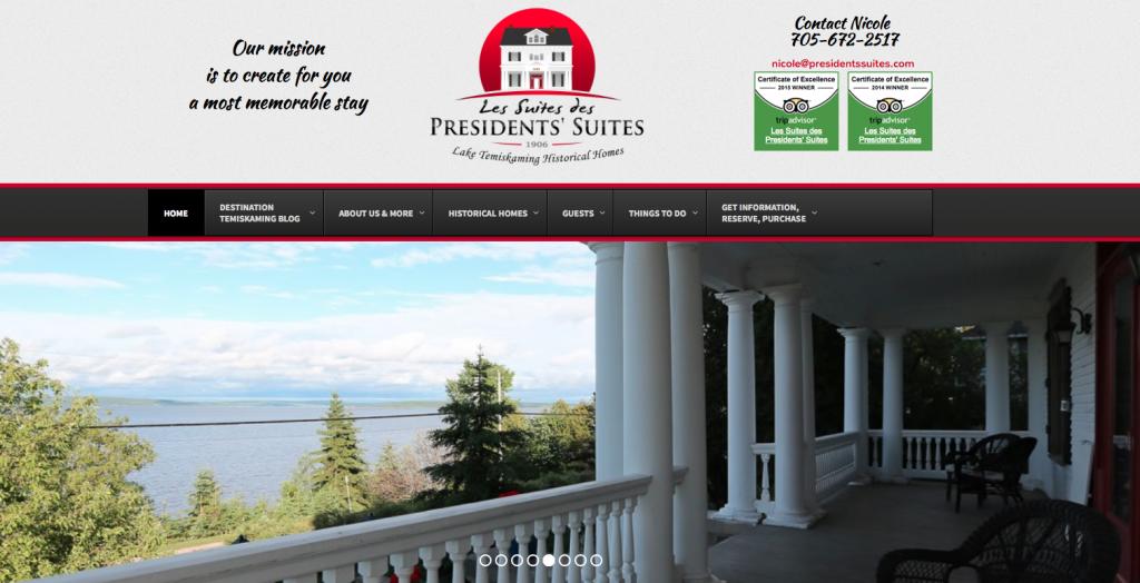 Presidents' Suites 2016 new web site / Nouveau site web de 2016 des Suites des Présidents