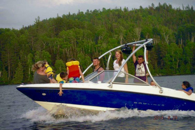 Marc Leblond profitant du lac Temiskaming