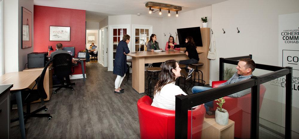Co-Worx est un espace de travail partagé situé à Haileybury dans la région du Temiskaming