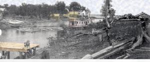 arrivée au lac Temiscamingue en 1886