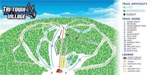 Sentiers de ski au Tri-Town Ski and Snowboard Village
