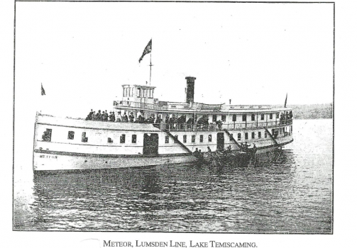 voyage sur le lac Temiskaming avec le Meteor