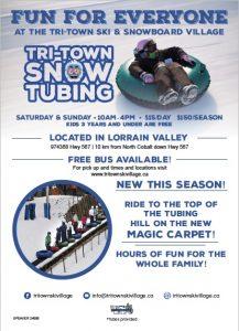 Tubing au club Tri-Town Ski & Snowboard Village lors de votre forfait hiver en famille