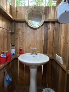 Salle de bain à l'île Farr