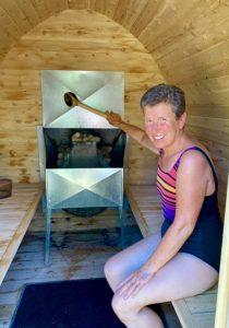 Le sauna est parfait pour le glamping