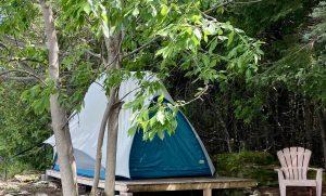 Site de camping temporaires sur lîle Farr