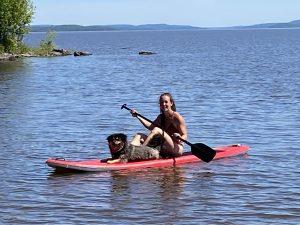 Glamping avec kayak, canot et paddleboard