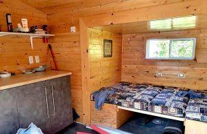 intérieur de la petite maison sur lîle Farr